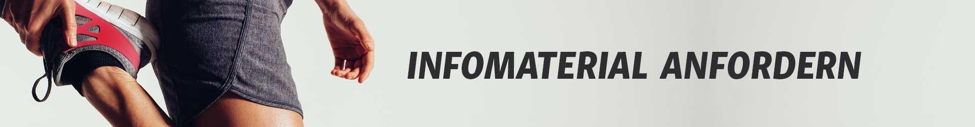 Infomaterial anfordern Banner - Fitnesstrainer